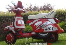 80's Vespa / Vespa with American Scooterboys 80's Style