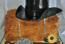 Our Cowboy Wedding - Wedding Cake and Cake Toppers / The most enjoyable difficult decision for the center peace of our celebrations
