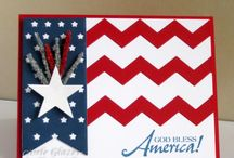 Patriotic Projects / Red white and blue themed projects  / by Stamptastic Designs