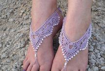 Sandalias para pies descalzos de crochet