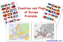 geography / europe flag n map