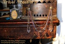 Earrings / Hand made, one of a kind earrings by Tribal Treasury, made with vintage elements.