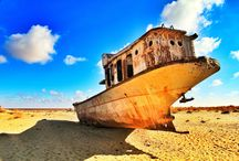 The Aral Sea / Whats left of the Aral sea