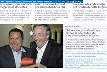 Así titula la prensa a un año de la siembra del Comandante Chávez / Millones de venezolanos conmemoran este miércoles el primer año de la siembra del líder socialista y revolucionario Hugo Chávez, celebrando su inmortalidad, la continuidad de su legado, su presencia arraigada en el corazón del pueblo y de su patria bolivariana; con movilizaciones, actos culturales, cañonazos de salva, rezos, un desfile cívico-militar, entre otras actividades.