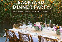 Dinner parties/ intimate gatherings / Food nights