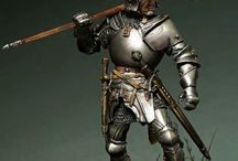 medieval war soldier and knight