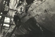 Torpedo Hit: September 15, 1942 / On September 15, 1942, a Japanese submarine I-19 torpedo  blasted NORTH CAROLINA on her port side just forward of the thick armor belt designed to protect her from torpedoes. The enormous blast shook the Ship and crew and sent tons of oil and water skyward. Tons more water quickly flooded into the resulting 32 by 18 foot hole causing the Ship to lean, a situation the crew quickly corrected by purposefully flooding compartments on the opposite side. Five men were killed and 23 were wounded.