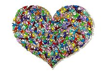 Hearts Art / Beautiful Hearts art from different artist's ideas and materials