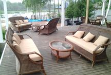 Living set for made from natural rattan