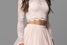 Homecoming 2017 Trend: Long Sleeves / Discover these lovely long sleeve styles for Homecoming 2017! Find your dream long sleeve HOCO 2k17 dress only on PromGirl.com!