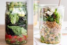Salades en bocal