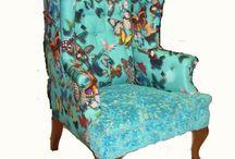 Créations Originales fauteuils, lits, luminaires / Mobilier personnalisé, création unique sur fauteuils, canapés, lits, têtes de lit, luminaires, abat-jours
