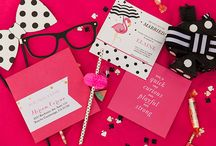 Kate Spade Bridal Shower / A Kate Spade inspired bridal shower. with bright colors, quirky photo booth props, polka dots, flamingos and pineapples! Planning + Styling by Miriam Corona Events  / by Miriam Corona Events
