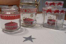 Gläser bekleben (Weihnachten)