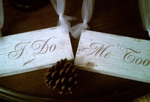 Wedding Signs | Some we have for rent | Ask us / These are Wedding Signs that I'm working on making, purchasing, or I already own.    Signs are available for rental. www.celebrationsbyamybacon.com / by Celebrations by Amy Bacon 💍