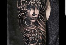 Black work tattoo ideias