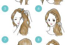 ideas simples de penteados