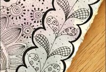 Zentangles / This board is for zentangles that are black and white. / by Jeanie Warner