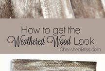 how to weather wood.