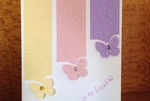Butterfly cards by Marcia / Punched out or die cut butterflies
