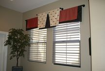 Window Treatment Designs / The window treatments shown on this board have been designed and manufactured by Carol Ellis of Ellis Design Group, LLC. #windowtreatmentseugene, #valancetreatments, #toppertreatments