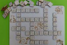 Hry na tvoření slov,překližka,laser