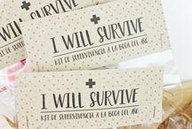 Complementos Ideales Boda / Libros de firmas, cajas de recuerdos, tarjetas, etiquetas para bengalas, kits de supervivencia y muchos detalles más que marcarán la diferencia ;)