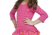 crochet - girl's dresses