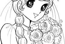 kleurplaten manga