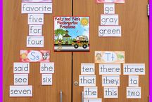 Sight Words / Lessons and ideas on teaching and reinforcing sight words, or high frequency words, for early and emerging readers and writers! Literacy centers, whole group lessons, and small group activities are for prek, kindergarten, first grade, and second grade classrooms.
