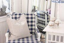 colours - white & blue