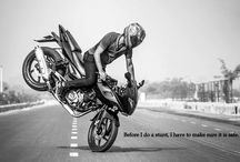 Bikes Stunting / Life has Fresher view when u Tyre Up :B