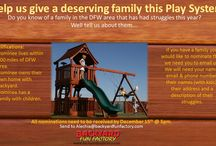 Fort Giveaway / Nominate a deserving family to win this Play System.