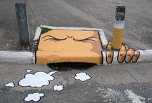 Streetart / Streetart, een bron van inspiratie. Daarom pinnen wij de mooiste streetart die we tegenkomen op het internet