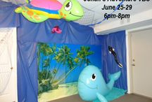 Kid's Events - Underwater Party / Underwater party theme ideas for kids. Includes decorations, games, food for under the sea themes. Can be used for a Jonah Bible themed party.