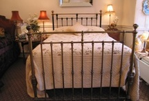 Old iron beds and frames / just pics of all types oir iron bed frames and how they are dressed