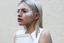 white fashion, sminke og hår