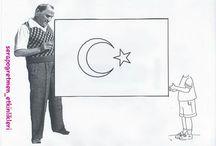 bayrak tutan çocuk