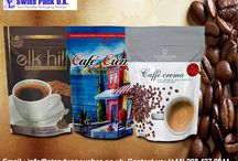 Coffee Bags / Coffee Bags and resealable coffee bags,  Coffee Bags for Coffee Packaging,  Coffee Beans / Ground Coffee / Dark Roast,  Custom Printed Valve Plastic coffee bags / Paper Bags,  Gravure Printed coffee bags with reclosable zipper,   Flexographic Printed coffee bags,  Plastic laminated coffee bags,  Aluminum Foil coffee Bags,  Tin Tie Coffee Packaging with resealable zipper,  Side Gusset Stock Bags.