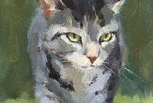 Животные в акварели и живописи