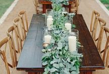Head Table Design / A head table is where the wedding party sits together at the reception.
