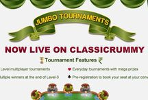 Rummy Tournaments 24x7 / Classicrummy brings the most blasting rummy tournaments 24x7 for all the rummy players. Join the best online multipalyer jumbo rummy tournaments to win thousands of cash prizes. For more details : https://www.classicrummy.com/rummy-games/rummy-jumbo-tournaments?link_name=CR-12