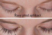 řasy oči