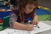 Preschool/Write / Writing center