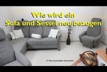 Polstern oder Sofa und Sessel neu beziehen