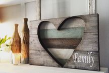 Valentine gift wood