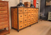 Industrial Look Chests of Drawers / Chests of drawers with an industrial look. Rouge Décor specialises in custom furniture and decor.  Email us at sales@rougedecor.co.za