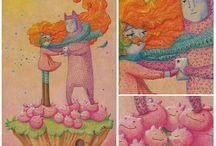 ISLAS / Serie de ilustraciones realizadas sobre madera con lápices de colores. Islas: singulares en la pluralidad.