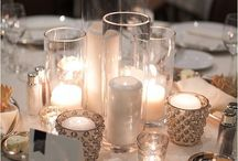 Candle elegant center pieces