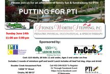 """Putting For PTI Nebraska / Sunday June 14th  11:00 am-3:00 pm  Boulder Creek Amusement Park  14208 """"S"""" Street Omaha, NE 68137  Cost: $10 Adults, $8 kids 12 and under, Ages 3 and under are free  Includes 2 rounds of miniature golf and lunch! Lunch includes all-beef hot dog, chips and drink!  Call 402-346-0525 To Register Or Through Facebook Event https://www.facebook.com/PTINebraska"""